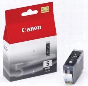 Canon inktcartridge PGI-5BK zwart, 800 pagina's - OEM: 0628B029, met beveiligingsysteem