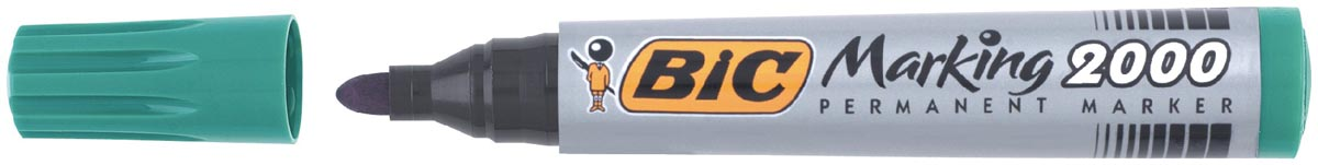 Bic permanent marker 2000-2300 groen, schrijfbreedte 1,7 mm, ronde punt