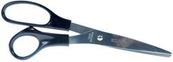 Bouhon schaar Inox 21 cm, voor rechtshandigen, zwart