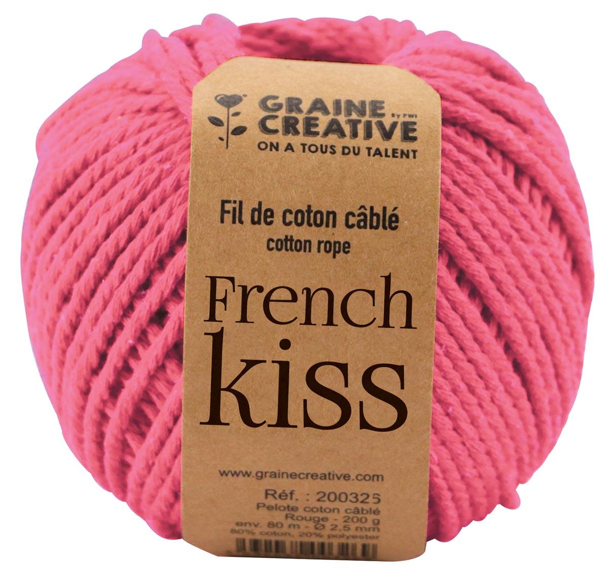 Graine Créative Macramé touw, ft 2,5 mm x 80 m, roze