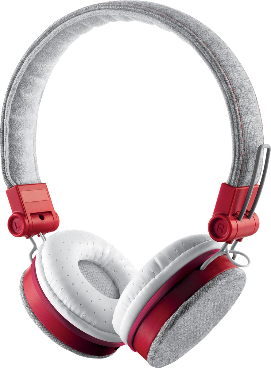 Trust Headset voor smartphones, tablets en laptops, grijs en rood