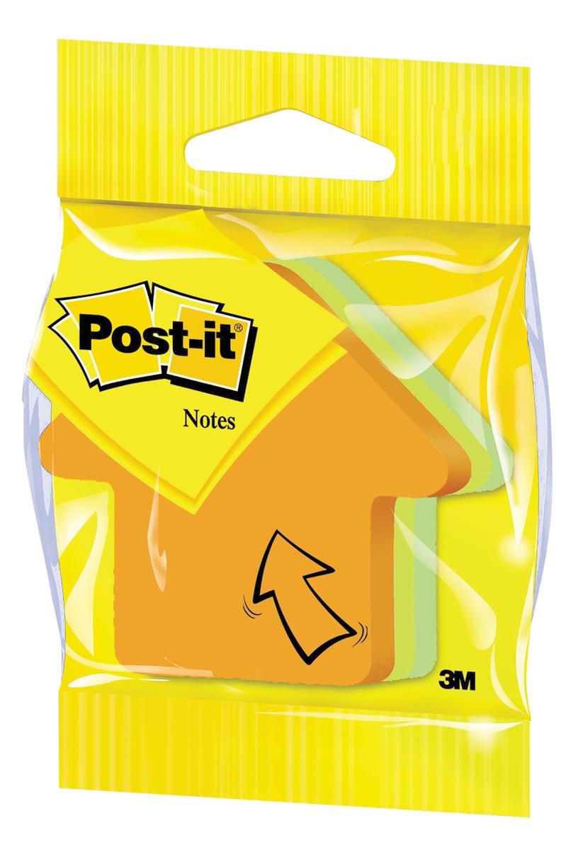 Post-it Notes mini pijl, 3 kleuren, blok van 225 vel, op blister