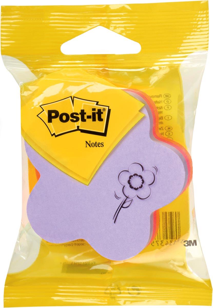 Post-It Notes Die-Cut Kubus, Bloem, 225 blaadjes, ft 70 x 70 mm