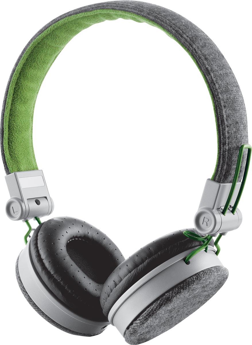 Trust Headset voor smartphones, tablets en laptops, groen en grijs