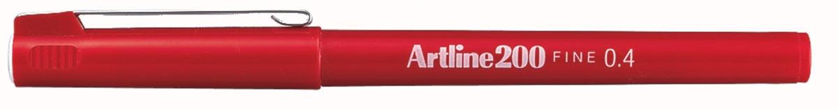 Fineliner Artline 200 rood