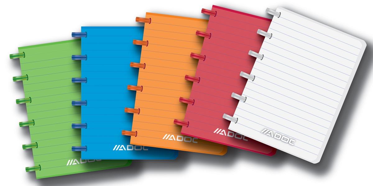Adoc notitieboekje Colorlines, ft A6, gelijnd, geassorteerde kleuren