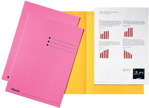 Esselte dossiermap roze, pak van 100 stuks