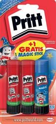 Pritt plakstift 2 x 22 g + GRATIS Magic plakstift 20 g