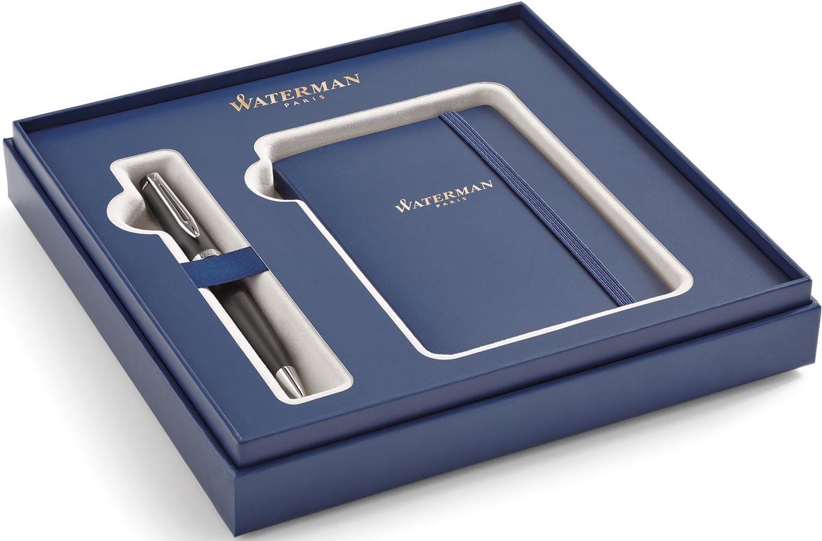 Waterman giftbox Expert vulpen medium + notitie boekje, zwart