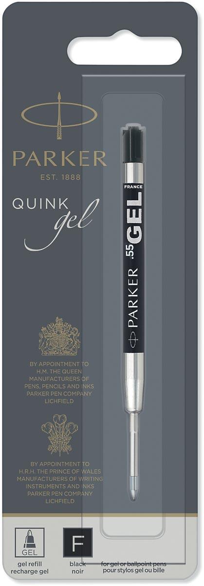 Parker Quink Gel vulling voor balpen fijn, zwart, op blister