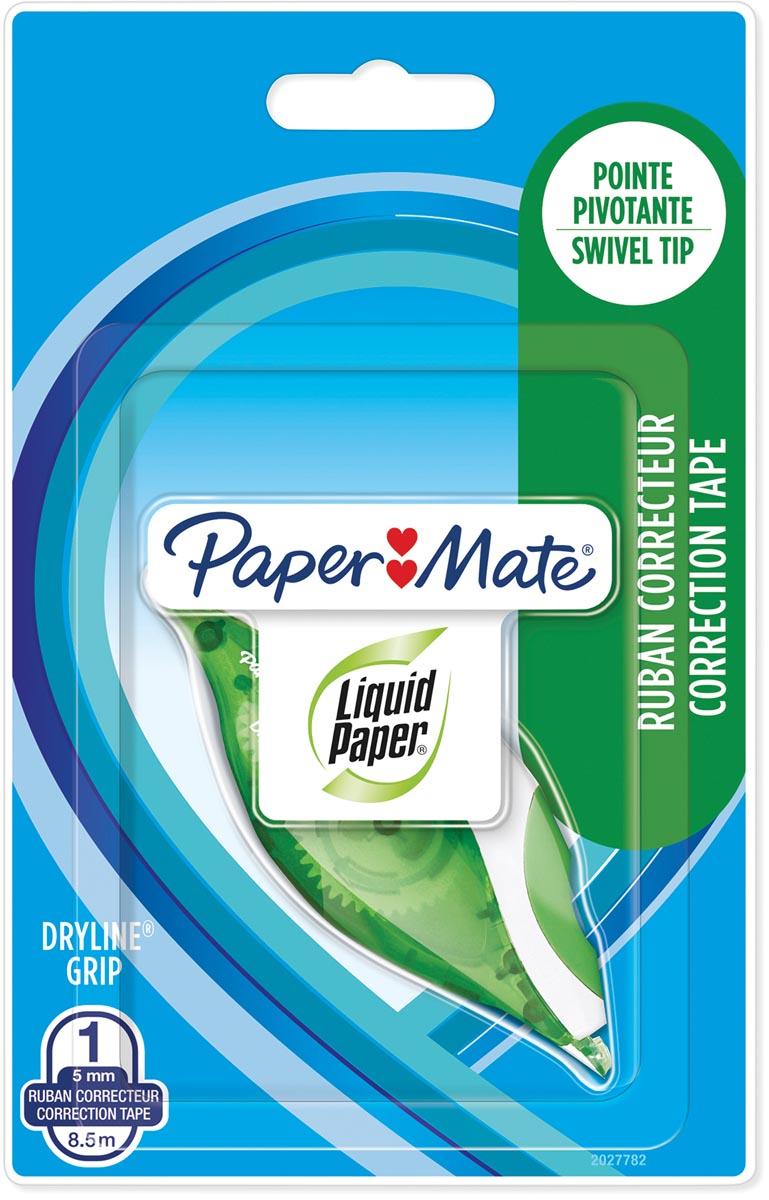 Paper Mate correctieroller Liquid Dryline Grip, groen, op blister