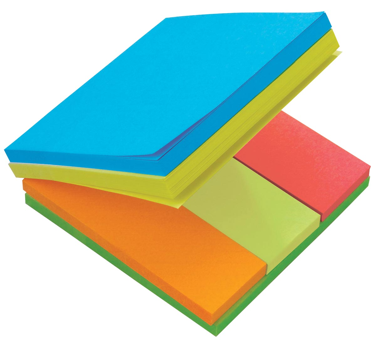 Post-it Multi Notes, kubus met geassorteerde kleuren en formaten