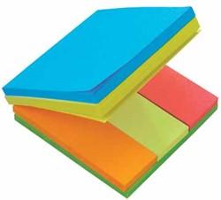 Post-it Multi Notes, kubus met geassorteerde kleuren en formaten
