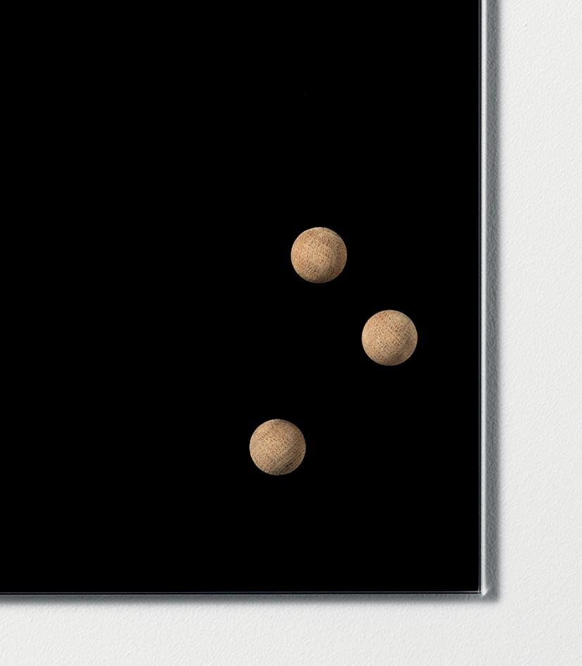 Naga magneet voor glasborden, in hout, blister met 3 stuks