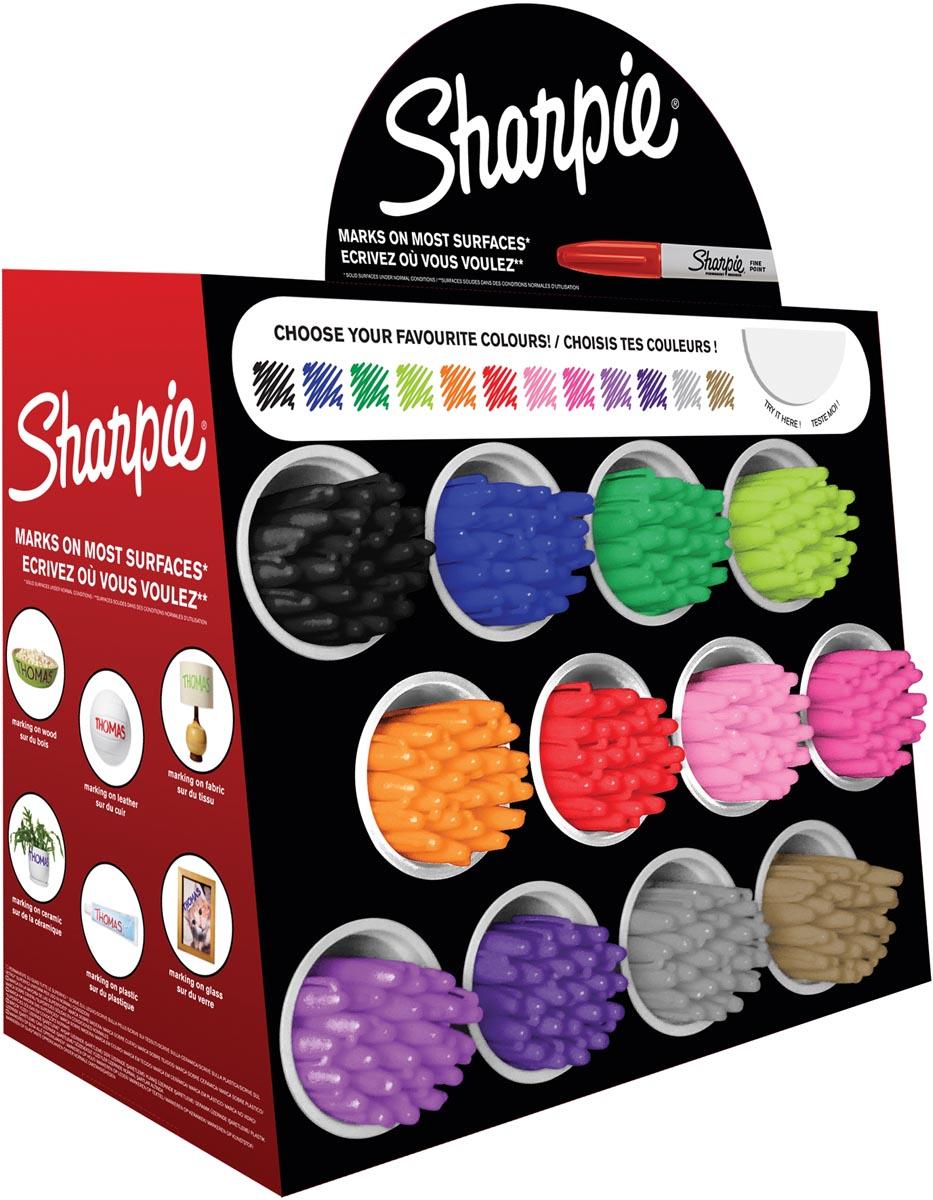Sharpie permanente marker, display van 288 stuks in geassorteerde kleuren