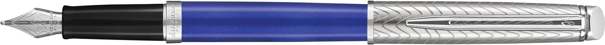Waterman vulpen Hémisphère Deluxe Blue Wave met palladium detail