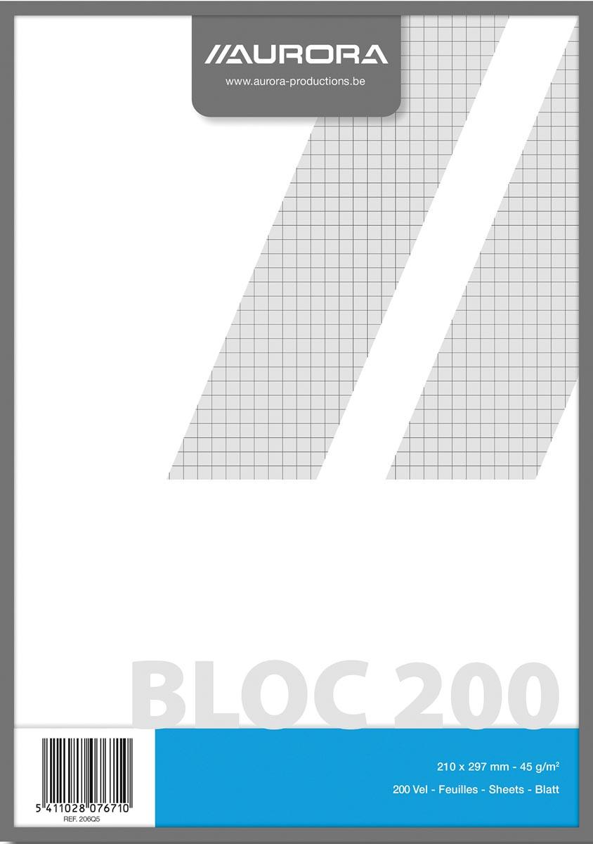 Kladblok ft A4, geruit 5 mm