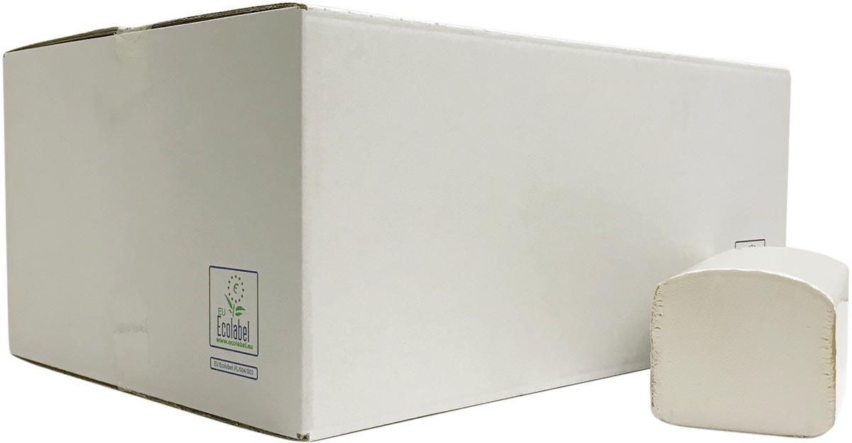 Europroducts papieren handdoeken, Z-vouw, 2-laags, 266 vellen, pak van 15 stuks