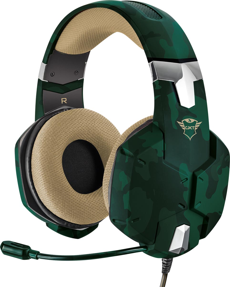 Trust GXT 322C Carus Gaming Headset, jungle camo