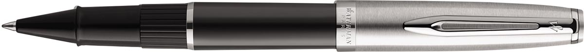 Waterman roller Embleme Black Chrome Trim met fijne punt