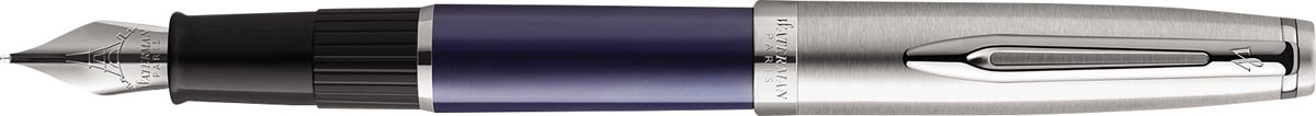 Waterman vulpen Embleme Blue Chrome Trim met fijne punt