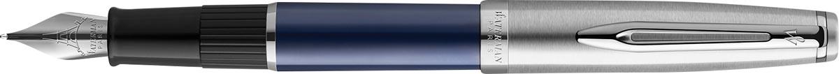 Waterman vulpen Embleme Blue Chrome Trim met medium punt