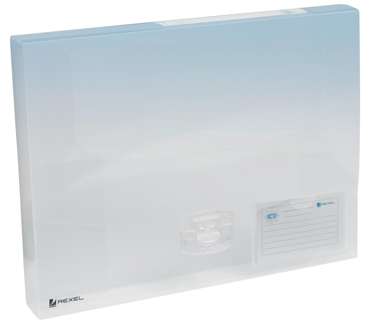 Rexel elastobox Ice transparant, rug van 4 cm