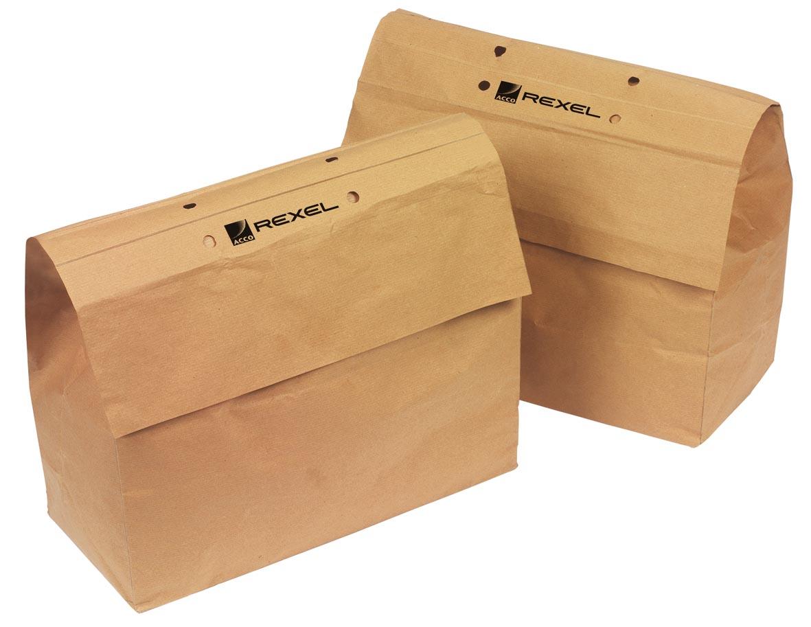 Rexel recycleerbare opvangzakken voor papiervernietigers 23 l, voor RES1223 en REX102, pak van 20 za