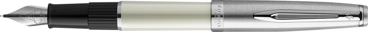 Waterman vulpen Embleme Ivory Chrome Trim met medium punt
