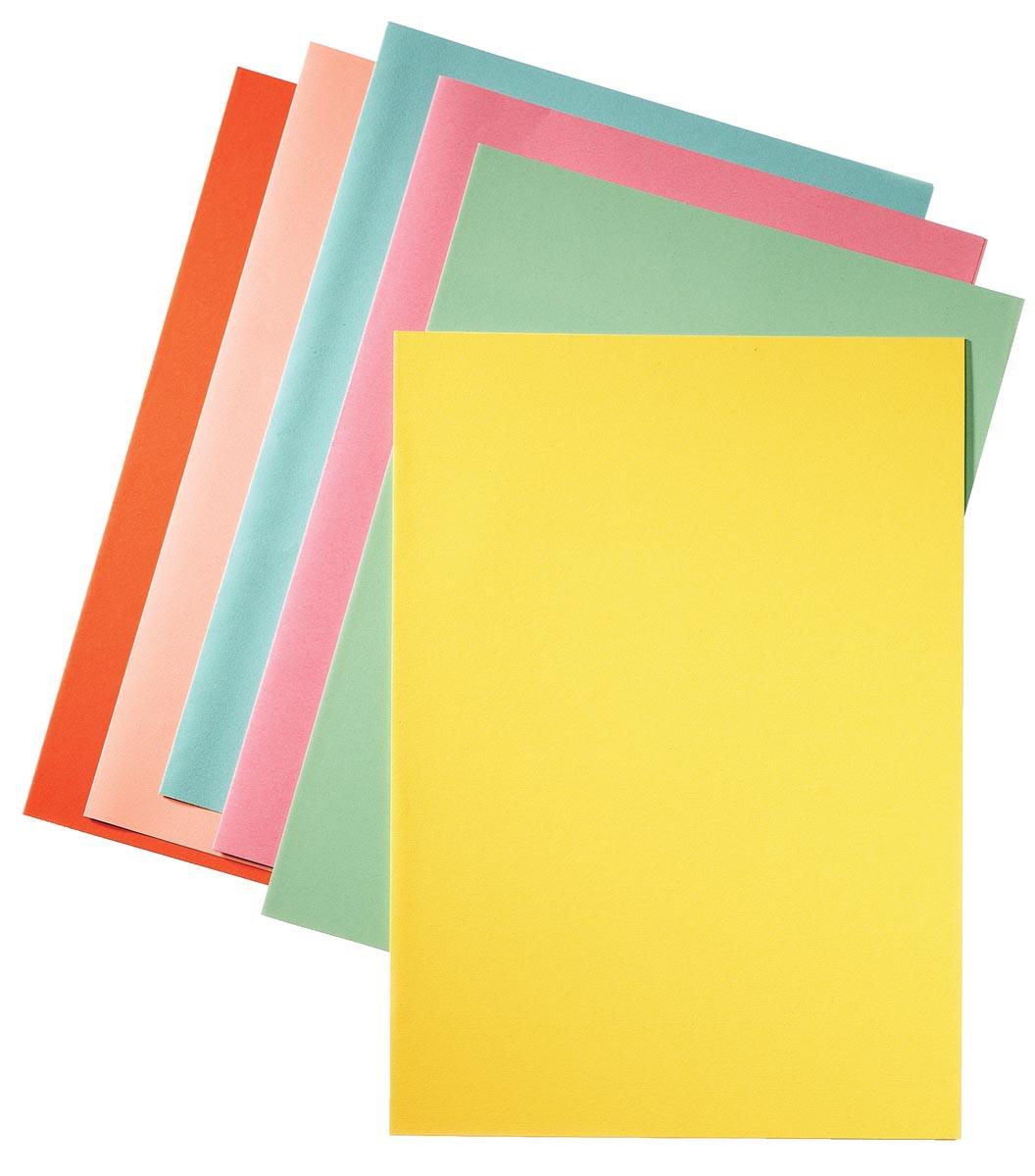 Esselte dossiermap geel, papier van 80 g/m², pak van 250 stuks