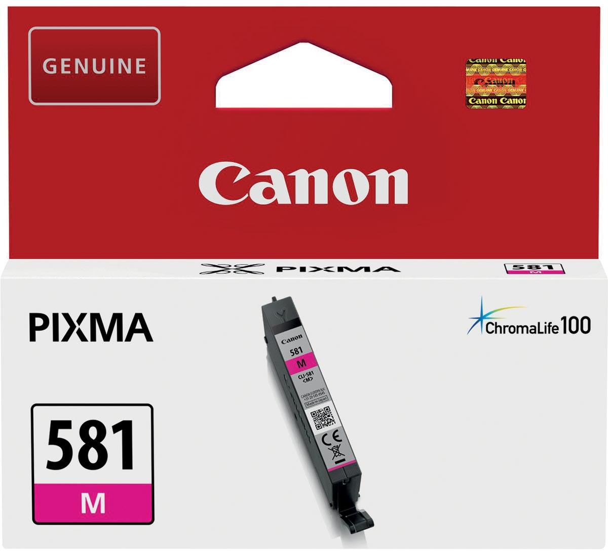 Canon inktcartridge CLI-581M, 223 pagina's, OEM 2104C001, magenta