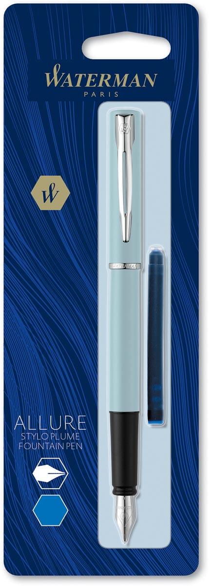 Waterman vulpen Allure pastel fijne punt, op blister, geassorteerde kleuren