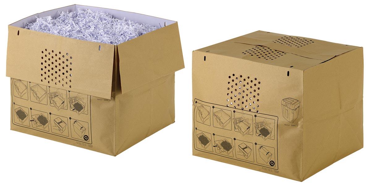 Rexel recycleerbare opvangzakken voor papiervernietiger Auto+ 500X papiervernietiger, pak van 50 zak