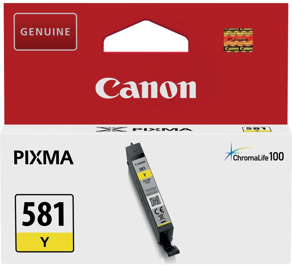 Canon inktcartridge CLI-581Y, 259 pagina's, OEM 2105C001, geel