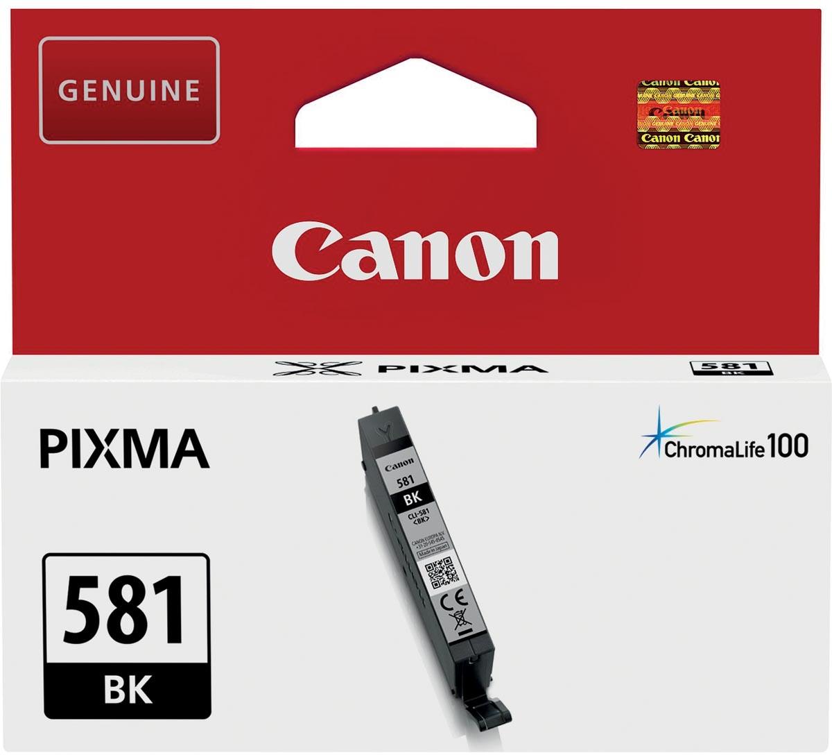 Canon inktcartridge CLI-581BK, 200 pagina's, OEM 2106C001, zwart