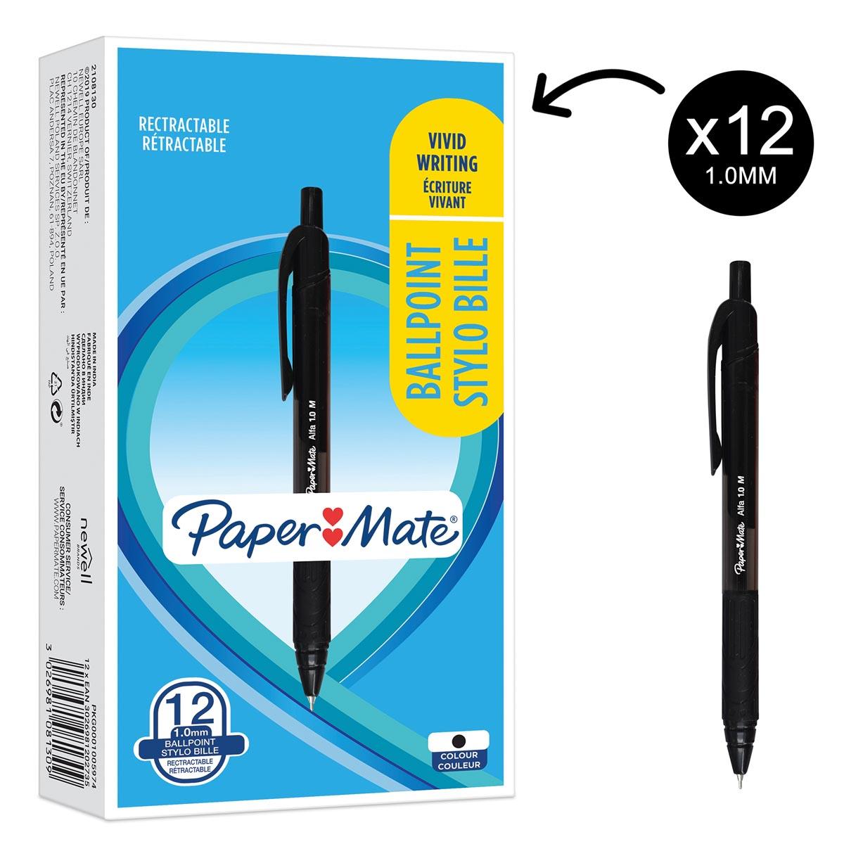 Paper Mate balpen Alfa RT, zwart