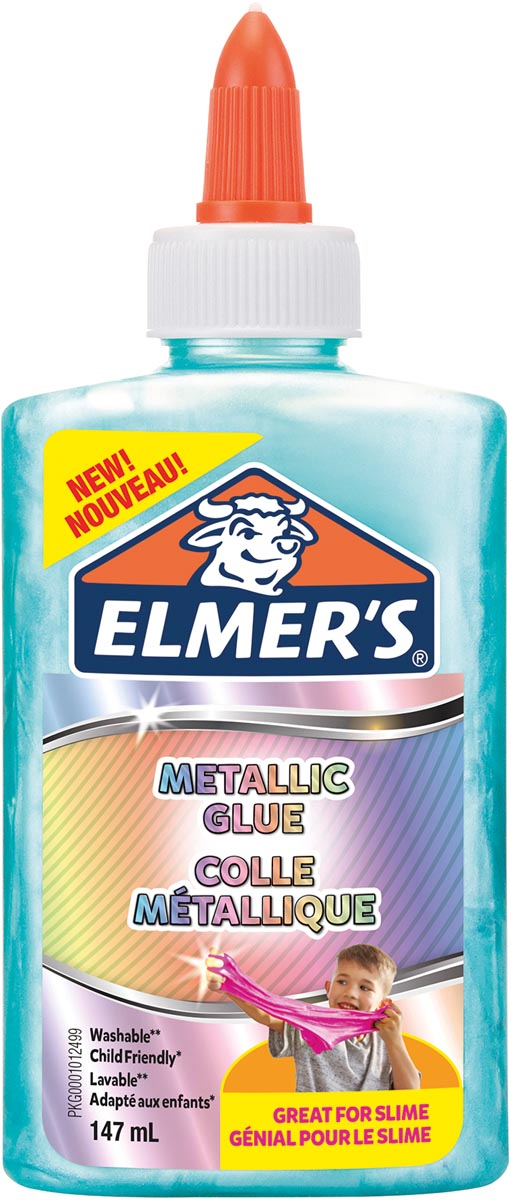 Elmer's metallic lijm, flacon van 147 ml, groenblauw