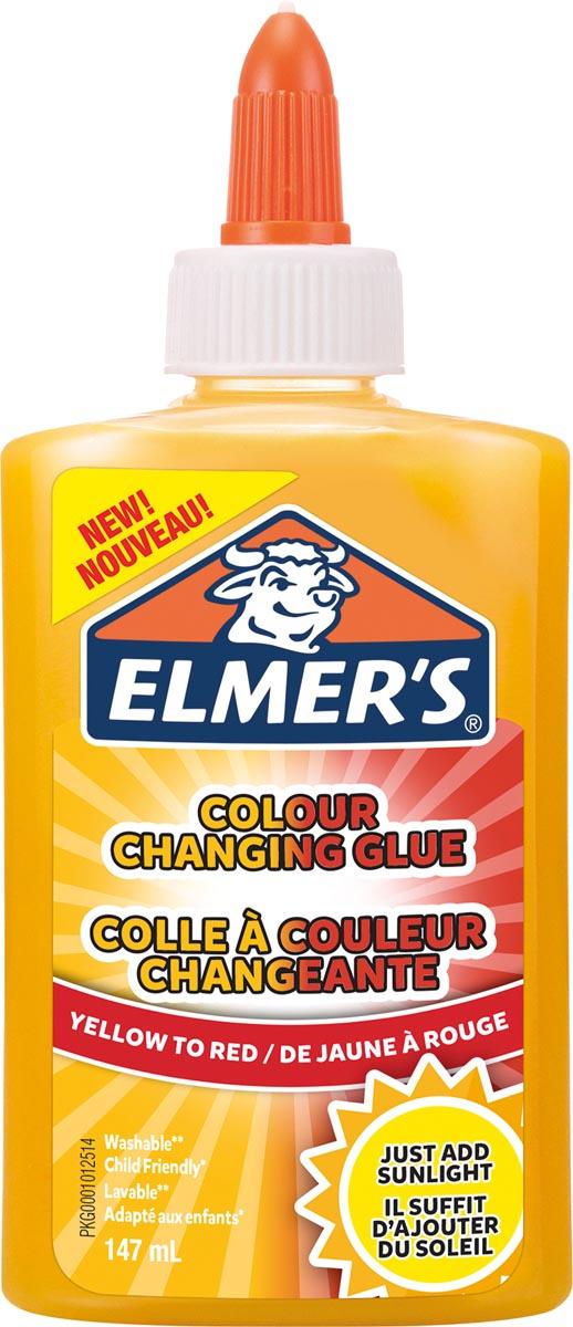 Elmer's magische vloeibare lijm flacon van 147 ml, geel/rood