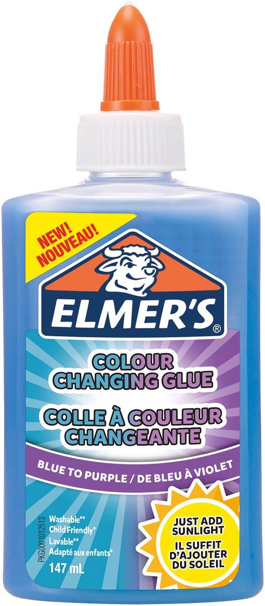 Elmer's magische vloeibare lijm flacon van 147 ml, blauw/paars