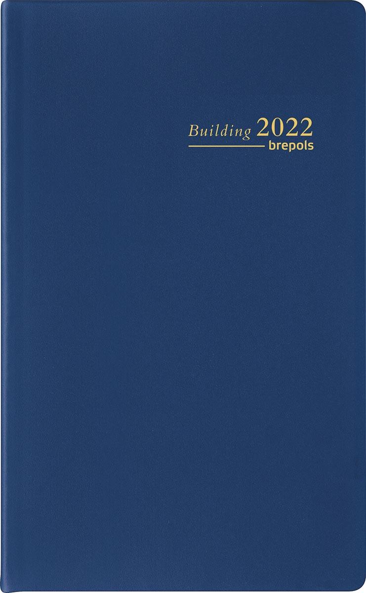 Brepols agenda Building Seta 6-talig, blauw, 2022
