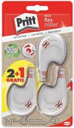 Pritt correctieroller Eco Flex, blister 2 + 1 gratis
