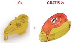 Pritt 10 x vulling voor lijmroller Refill niet-permanent + GRATIS 2 x lege lijmroller