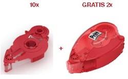 Pritt 10 x vulling voor lijmroller Refill permanent + GRATIS 2 x lege lijmroller