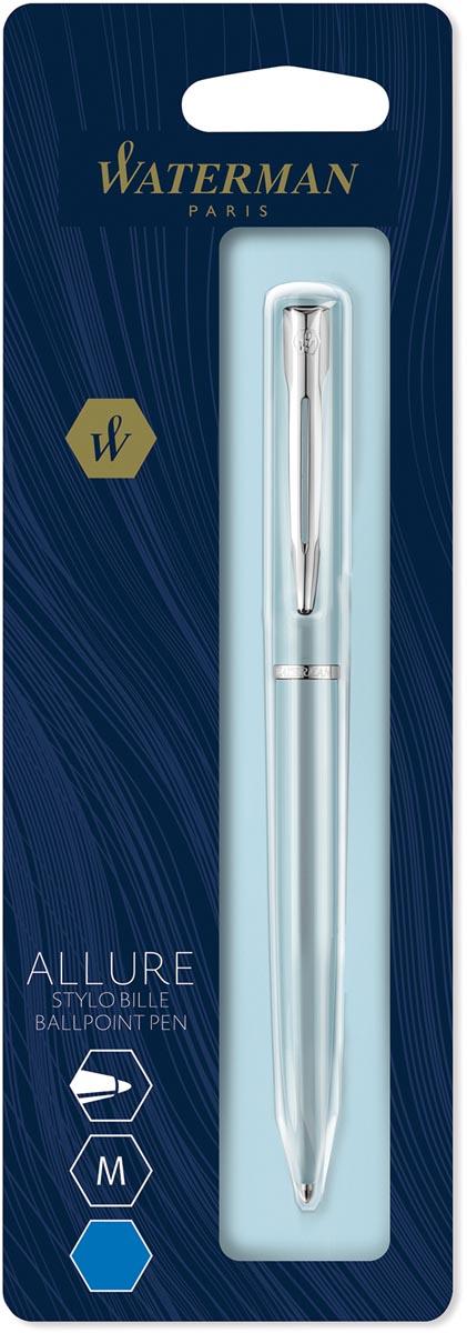 Waterman balpen Allure pastel medium punt, op blister, blauw