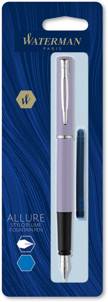 Waterman vulpen Allure pastel fijne punt, op blister, paars