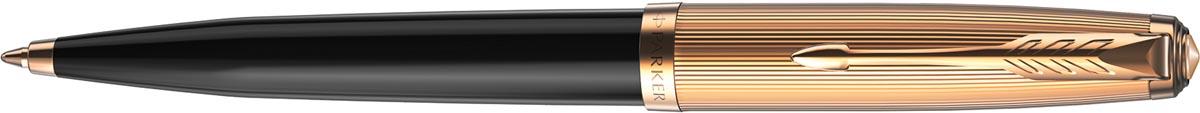 Parker 51 Premium balpen zwart GT, zwarte inkt