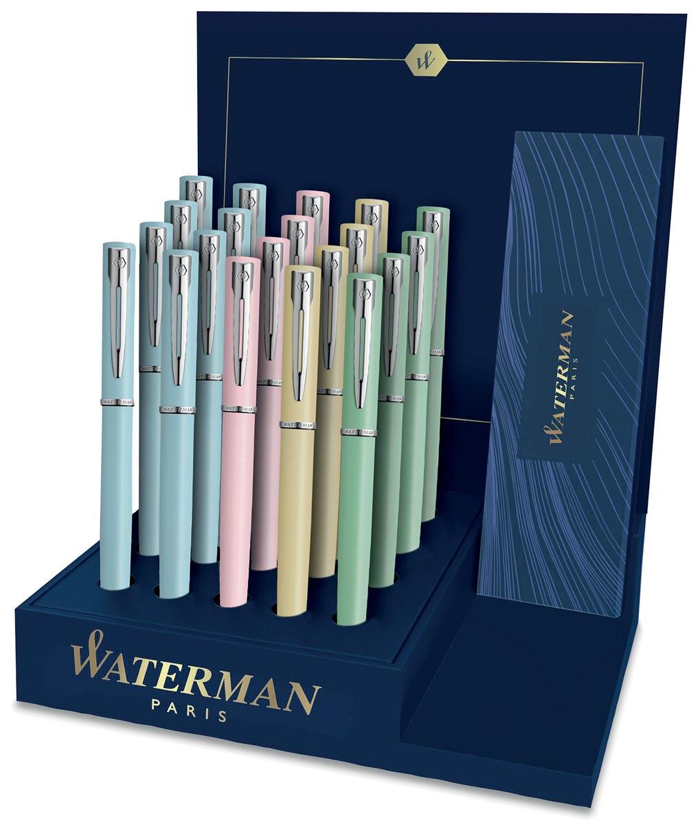 Waterman vulpen Allure display met 20 stuks in geassorteerde pastelkleuren