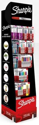 Sharpie permanente marker, display van 132 blisters in metallic, pastel en standaardkleuren