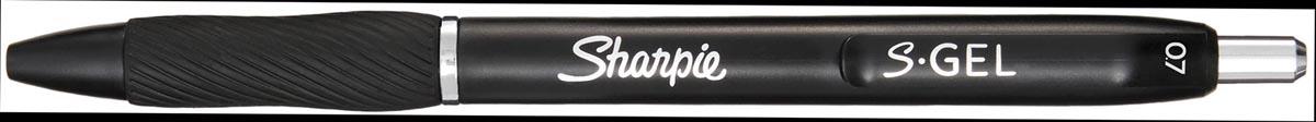 Sharpie S-gel roller, medium punt, blister van 3 stuks, zwart