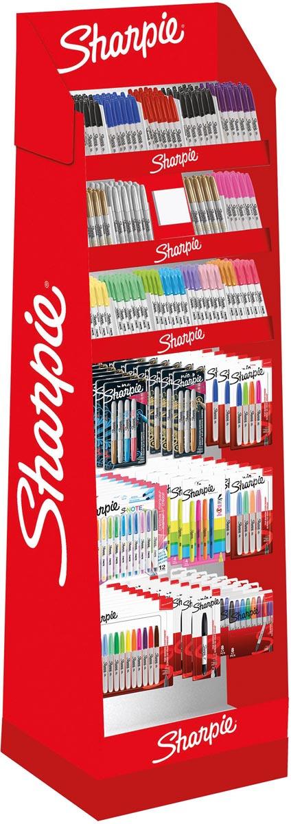 Sharpie permanente marker Boutique, display met 408 stuks in geassorteerde kleuren